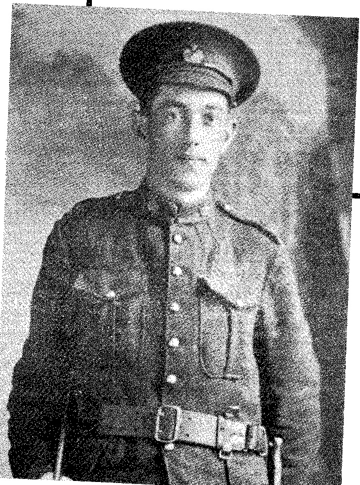 Henry Barrie in his WW1 Canadian military uniform.